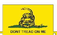 "Gadsden Flag ""Don't Tread On Me"" Navy Jack Revolutionary War Rebels Militia 1776 4th of July USMC Marine Corps Iron on Patch Velcro Patch"